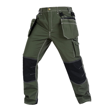 Bauskydd High quality men's wear-resistance multi-pockets work trousers cargo work pant workwear construction mechanic