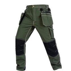 Bauskydd haute qualité hommes résistance à l'usure multi-poches pantalon de travail cargo travail pantalon vêtements de travail mécanicien de construction