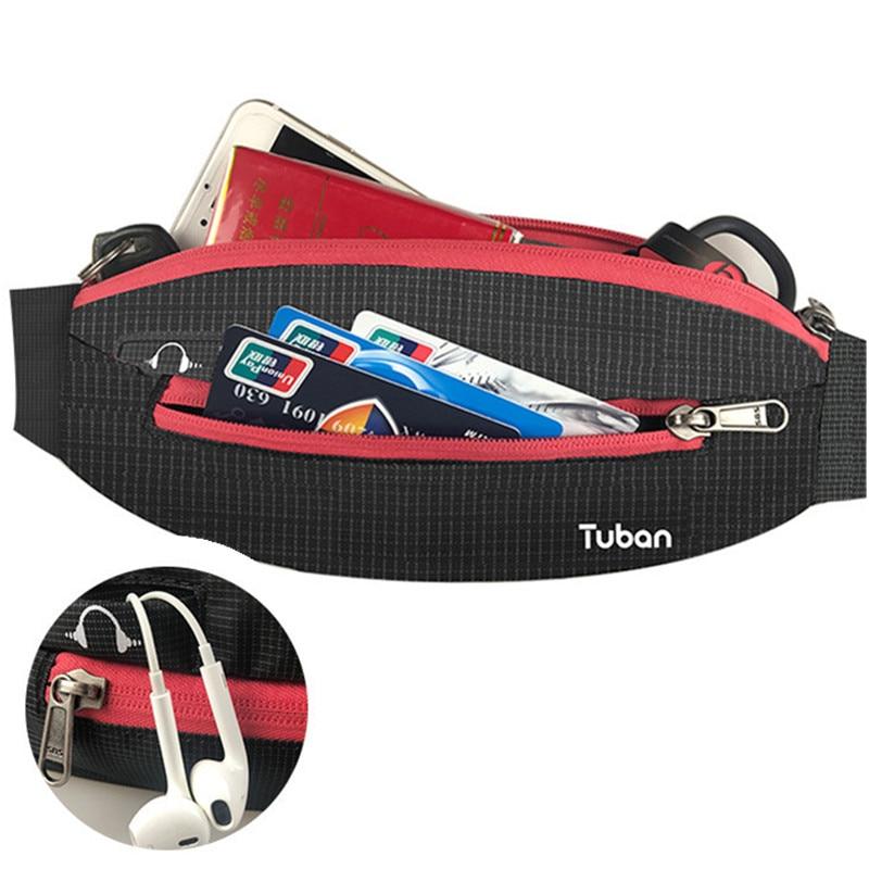 все цены на TUBAN Unisex Lightweight waist pack men waterproof fanny waist bag women belt bum bag male phone wallet Pouch Bags