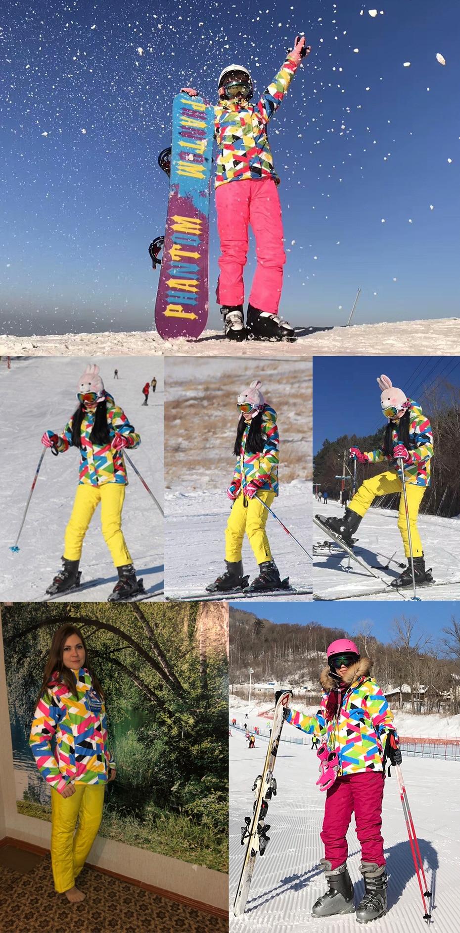 alta qualidade feminino calças neve à prova