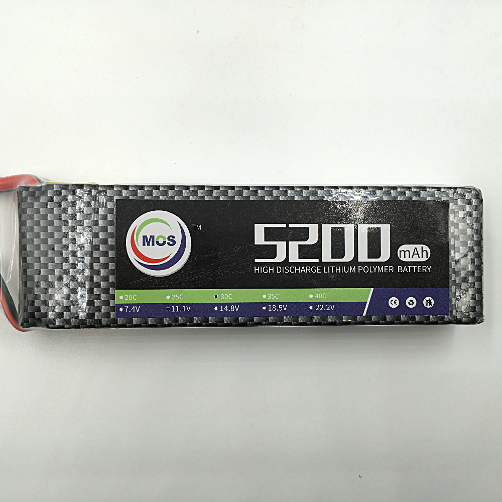 MOS 11.1v 5200mah 40c 3s lipo battery for rc airplane rc helicopter free shipping 2pcs package mos 3s lipo battery 11 1v 1300mah 35c for rc airplane free shipping
