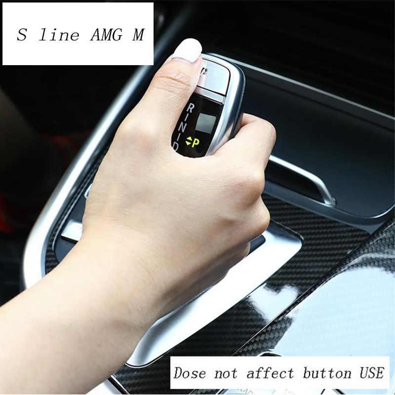Style de Style de voiture levier de vitesse poignée manchon boutons couvre autocollants garniture pour BMW X5 E70 E71 X6 F15 F16 Auto intérieur accessoires