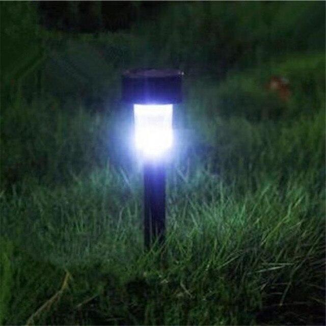LED Stainless Steel Solar Powered Lamp 2