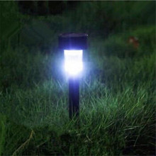 LED Solar Lights Stainless Steel Solar Powered Lamp for Outdoor Landscape Path Lawn Pathway Garden Decor 1 Piece Luminaria Light