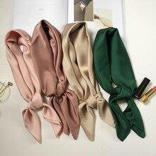 33b93f4e28ce Marque de luxe sacs ÉCHARPE foulard en soie de femmes de mode lady écharpes  carrées doux châles pashmina solide couleur bandana