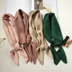 Роскошные сумки бренда шарф женский шёлковый шарф, модный леди квадратные шарфы мягкие Платки пашмины сплошной цветная бандана