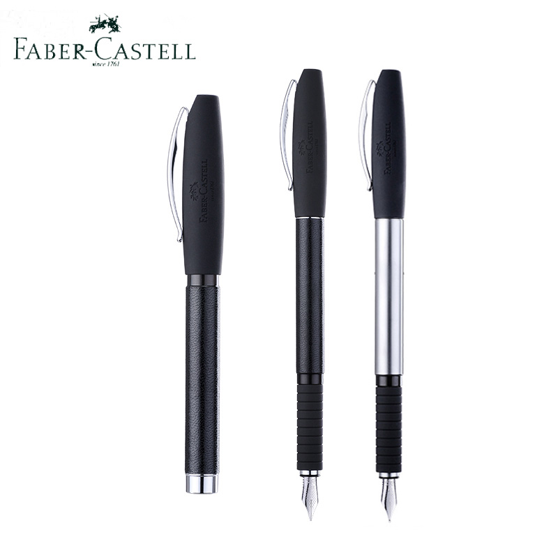Faber-Castell Basic Black Carbon Fount Pens EF 0.35mm Stainless Steel Bent Nib Extra Fine Office Pen M 0.5mm Refill calligraphy faber jolie black glass a80