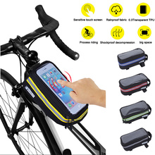 Bicycle Bag Rainproof Bike Bags Front Tube Night reflective Strip Cycling Phone Universal Accessories