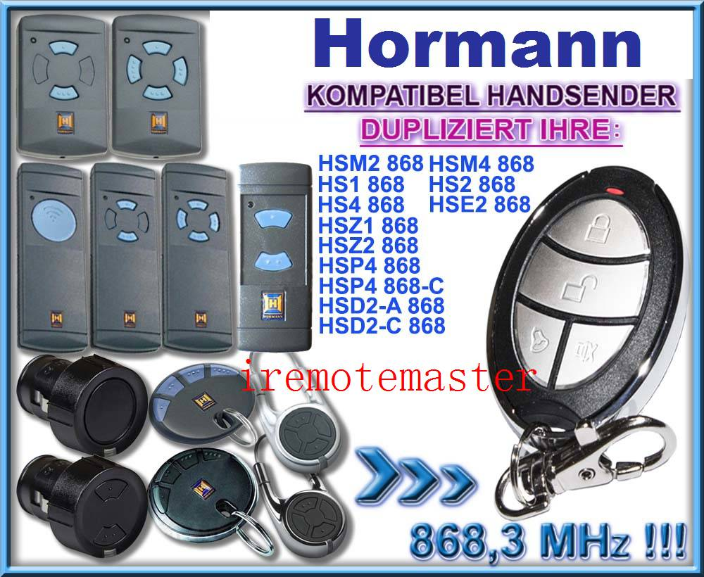Hormann HSM4 868 mhz remote control Compatible with HSM2, HSM4 868MHz remote control, Clone duplicator DHL free shipping