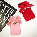 Мода милые Плюшевые перл bowknot телефон случаях для iphone 6 6 s 6 плюс для iphone 7 7 plus задняя крышка мягкая для девочек женщины