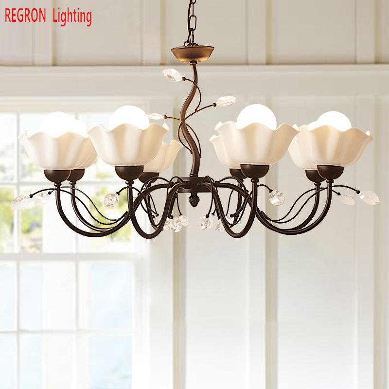 Regron Country Chandeliers American Antique Style Crystal Chandelier Lights Flower Luminary For Living Room Bedroom Dining RoomRegron Country Chandeliers American Antique Style Crystal Chandelier Lights Flower Luminary For Living Room Bedroom Dining Room