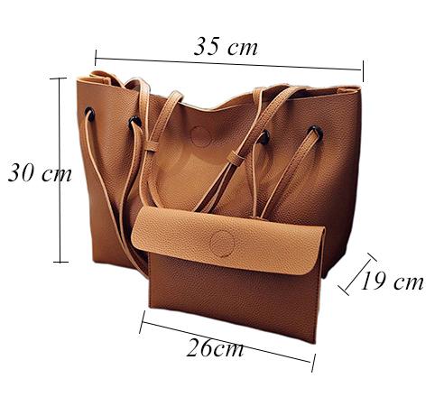 SMOOZA Women' Soft PU Leather handBag Set Luxury Brand Fashion Designer Female Shoulder Bags Big Casual Bags Set Handbags purse