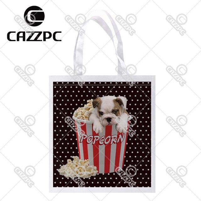 Punto Blanco cute bulldog en Popcorn bucket patrón imprimir Custom ...