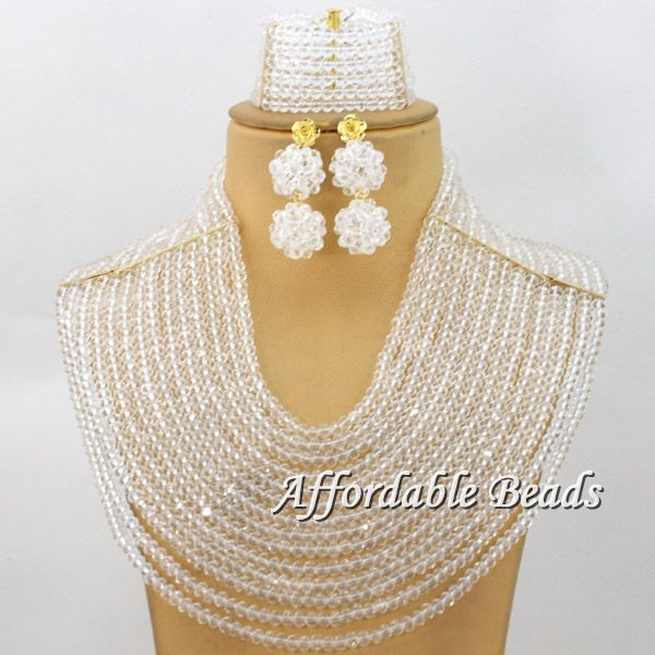 12 Layers Symmetry Crystal Beads Weaving Solid Color African Beads Jewelry Sets Bridal Nigerian Wedding Party Jewelry Set qw35412 Layers Symmetry Crystal Beads Weaving Solid Color African Beads Jewelry Sets Bridal Nigerian Wedding Party Jewelry Set qw354