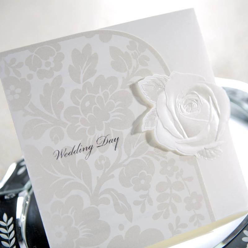 elegant embossed white rose free personalized  u0026 customized