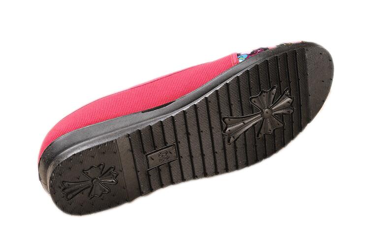 G11 huangse lanse Hongse Espadrilles Chaussures Plus 35 Huanqiu Toile La lvse Évider Mocassins Respirant Femmes 2017 meihongse kafeise Nouvelle Taille Été Marque Appartements 41 x1wfS