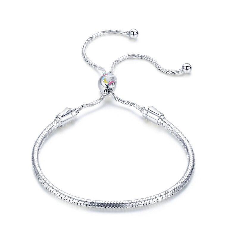 LJP 925 Sterling Silver Elegant Clover Love CZ Bracelets & Bangles for Women Original Sterling Silver Jewelry 925 sterling silver bracelets for women moon and star cz crystal bracelets