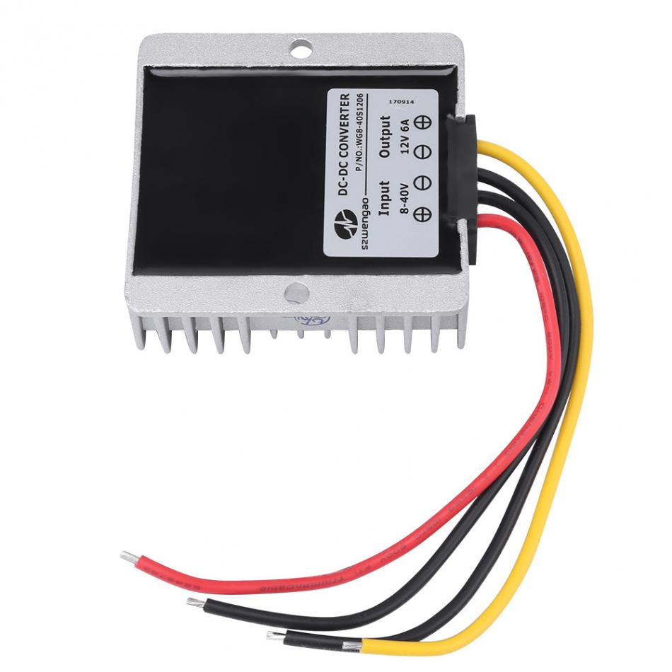 Voltage Regulator DC8V~40V to 12V 6A 72W Auto Step UP/Down Converter Boost Buck DC-DC Step-down module adjustable Voltage Module wholesale 1pcs dc dc step up converter boost 2a power supply module in 2v 24v to out 5v 28v adjustable regulator board dropship