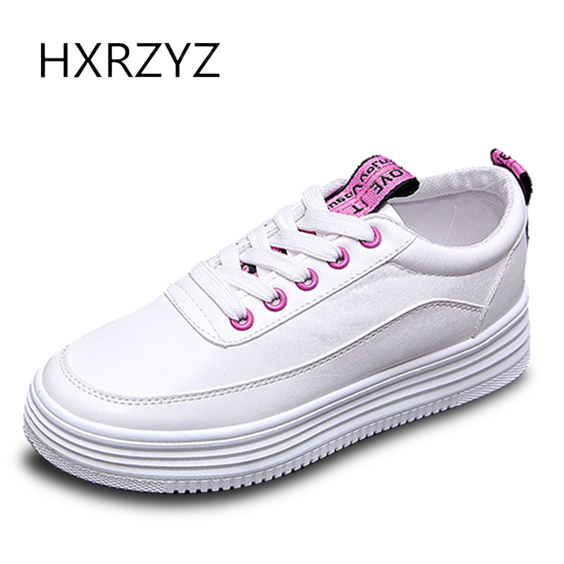 HXRZYZ women leather small white shoes flat canvas sneakers spring/autumn new fashion comfortable espadrilles women casual shoes