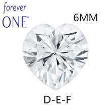 Charles Colvard FOREVER ONE Heart Cut 0.8 Carat 6x6mm DEF Color Moissanite Loose diamond Stone VVS Excellent Cut Test Positive