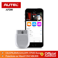 Autel AP200 OBD2 Scanner Bluetooth Code Reader Full System Diagnostics tool AutoVIN TPMS IMMO Service for Family DIYers PK MX808