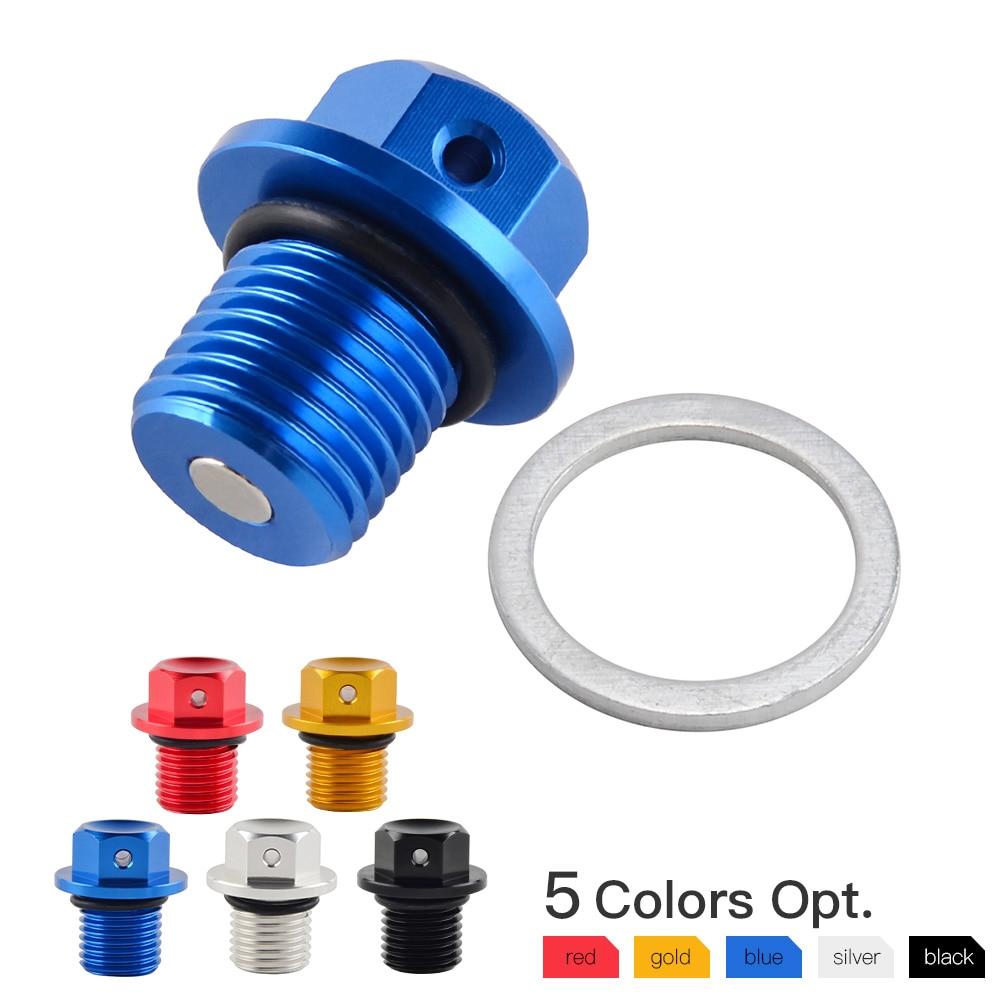 Magnetic Oil Drain Plug For Yamaha BANSHEE RAPTOR 660R GRIZZLY 80 125 550 660 700 RHINO 660 YFM80 YFM660 YFZ350 YXR660