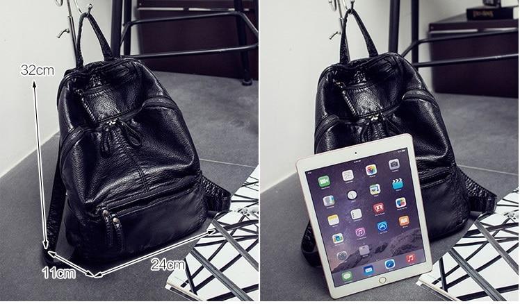 Fashion Leisure Women Backpacks Womens PU Leather Backpacks Female school Shoulder bags for teenage girls Travel Back pack C371