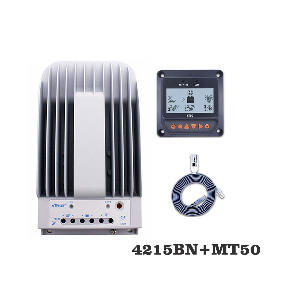 Tracer4215BNN 40A MPPT Solar Charge Controller cell battery charger control 4215BN with MT50 Remote Meter LCD DisplayTracer4215BNN 40A MPPT Solar Charge Controller cell battery charger control 4215BN with MT50 Remote Meter LCD Display