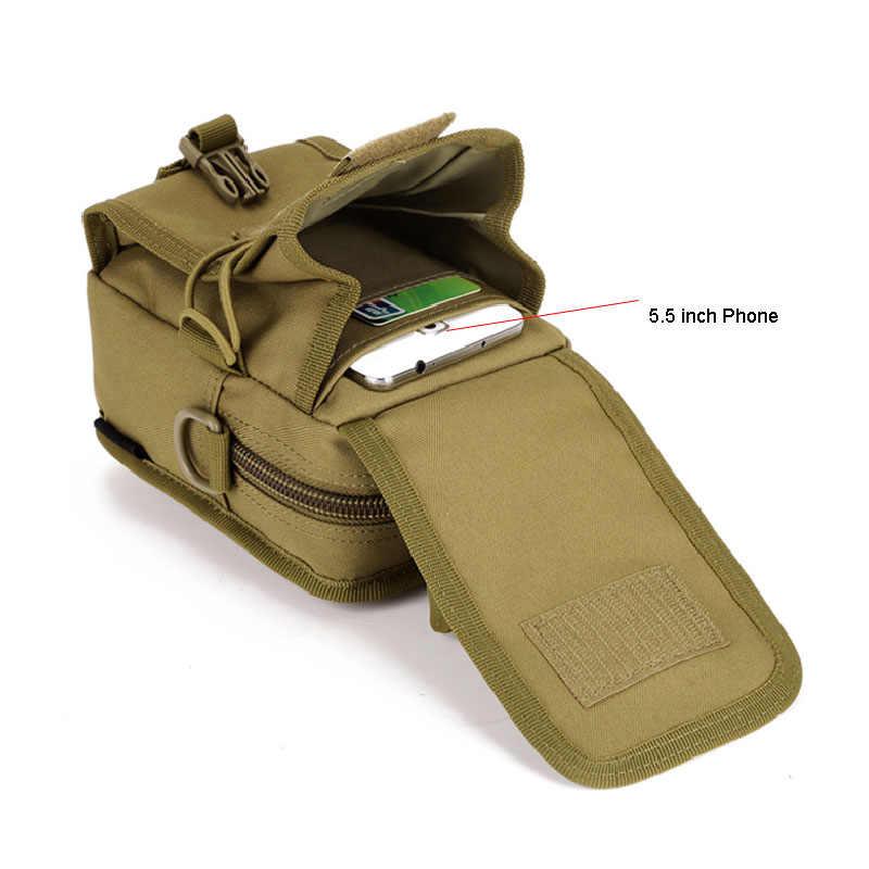 Chống Thấm Nước Molle Chiến Thuật Túi Túi Nhà Tổ Chức EDC Dây Lưng Túi Quân Sự Quân Đội Dây Đeo Vai Nylon Cắm Trại Nhỏ Gói XA582WA