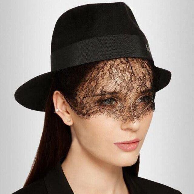 Maison Michel lace veil - Black V4beygJ
