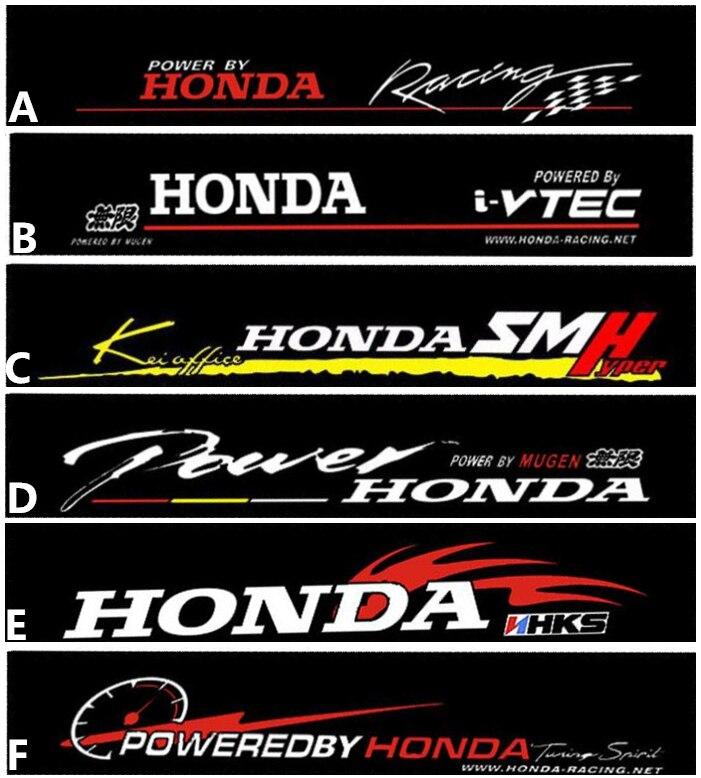 Frete grátis Automobile etiqueta adesivos de carro para HONDA dianteiro adesivos para janela da frente