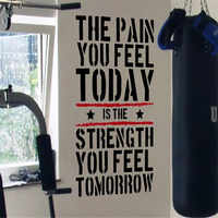 The Pain you Feel Today... Home Gym Motivational Wall Decal Quote Fitness Strength Workout Wall Stickers Wall Art For Kids Rooms