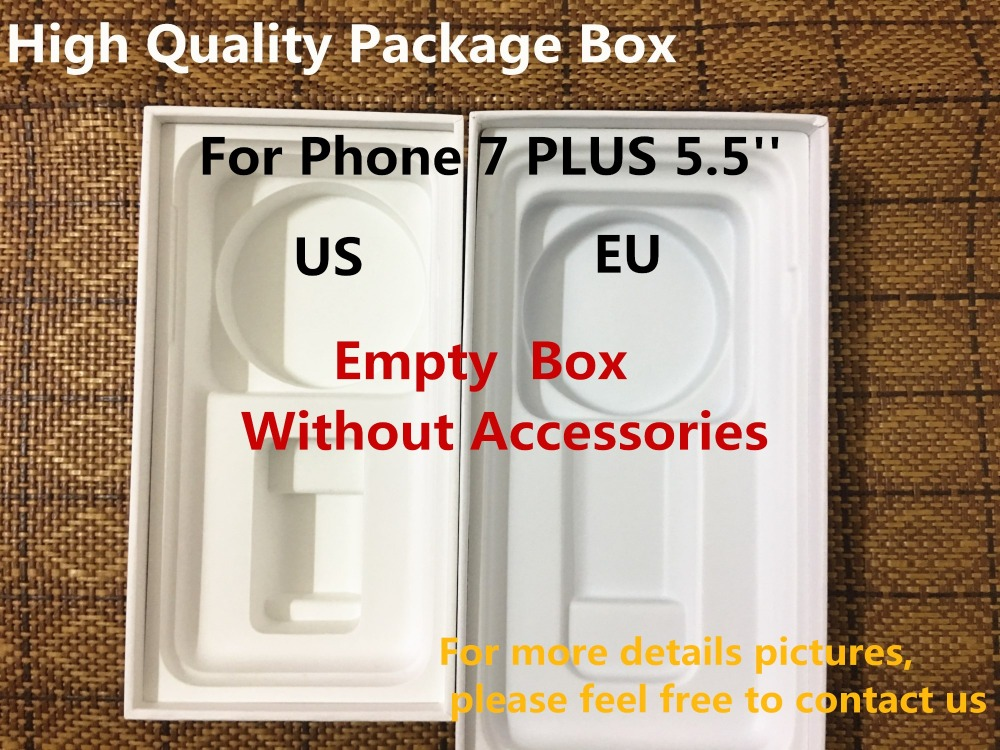 50pcs lot High Quality US EU Version Phone Packaging Packing Box Case For iPhone 7 plus