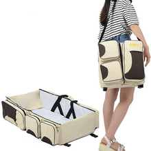 Baby 3 In 1 Multi-functional Diaper Bags Travel Bassinet - Portable Bassinet & Changing Pad Station travel portable bassinet large capacity diaper bag multifunction portable changing station travel crib diaper bag travel bed