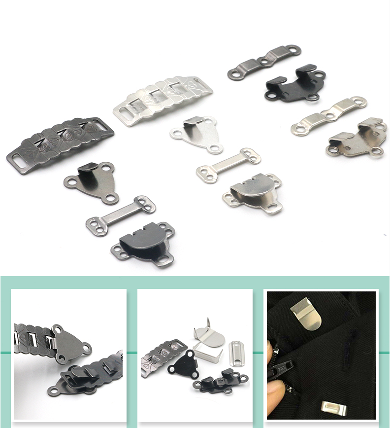 Metalen koper broek haken voor mannen en vrouwen pak broek onzichtbare gesp rok dark gesp opknoping knop knoppen accessoires