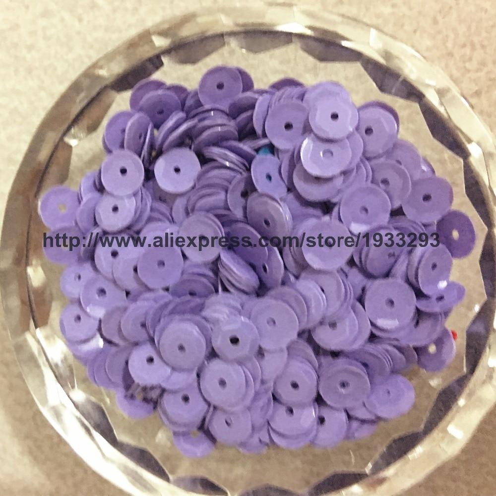 50g(4000pcs)/100g(8000pcs) 6mm <font><b>CUP</b></font> Solid <font><b>Purple</b></font> <font><b>round</b></font> loose <font><b>sequins</b></font> Paillette sewing Wedding craft good quality Free Shipping