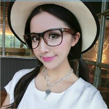 d5fdef872 Hombres y mujeres coreanos retro gafas grandes gafas de marco gafas de marco  de madera marea
