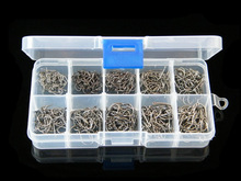 500 Pieces/box Mixed Size #3-12 High Carbon Steel Circle Owner Fishing Hooks Set Freshwater Fishhook Sets Strong Fish Tackle