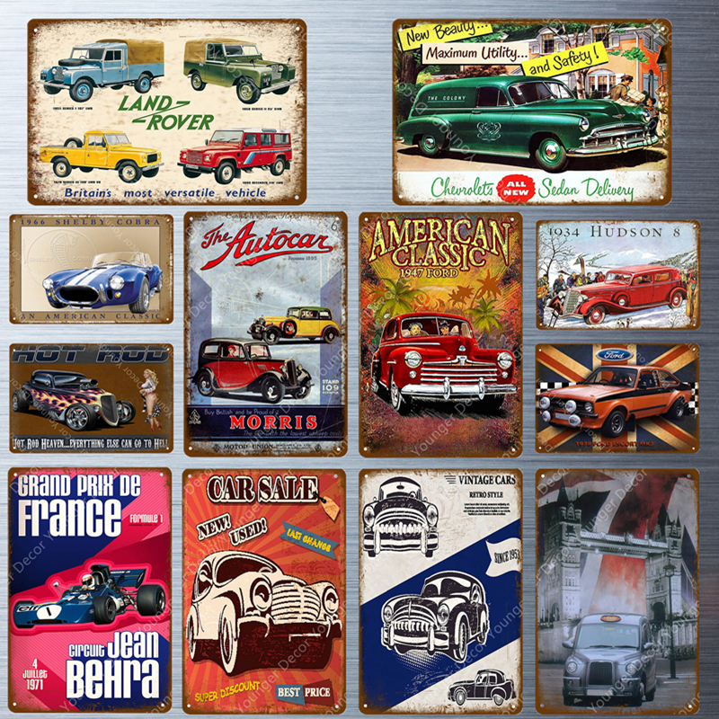 Poster Metal Signs Garage Club Classic Tin-Plaque Car Vintage Wall Land-Rover Home-Decor