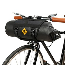 B-SOUL Bike Front Tube Bag Waterproof Bicycle Handlebar Basket Pack Cycling Front Frame Pannier Bicycle Accessories 2pcs kids cycling bike bicycle handlebar bag front basket pouch detachable bicycle accessories