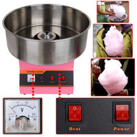 (Ship from EU) 1300W Cotton Candy Machine Fairy Floss Maker Party Fun Yield 2/min Celebrating Xmas Halloween Party