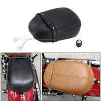 Motorcycle Rear Leather Passenger Pillion Seat For Indian Scout 2015 2018 Indian Scout Sixty 2016 2018