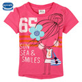 Novatx k4958 camiseta de las muchachas con la niña impresa niños ropa de verano de manga corta niños t shirt o-cuello de la ropa