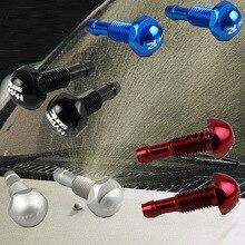 1 пара металлического материала веерообразная туманная Форсунка для авто стеклоомывателя стеклоочиститель спрей для воды черный серебристый красный синий