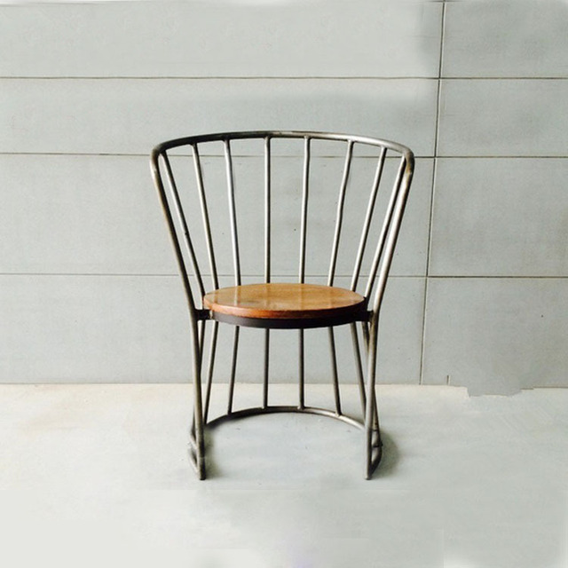 Bon American Country To Do The Old Wrought Iron Chairs Iron Wood Chair Wooden Chair  Chair Creative