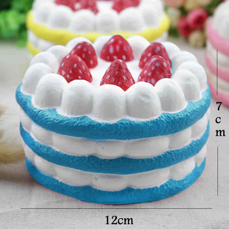 Прекрасный слишком клубничный торт мягкими замедлить рост игрушки снимает стресс беспокойство Игрушка trick для детей и взрослых шутки игрушки кляп подарки