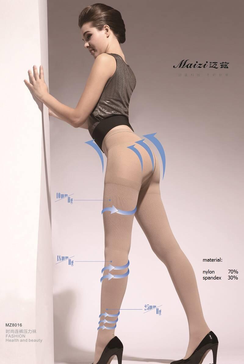 DHL Free shipping 3pcs/lot Top quality 23-32mmHg medical compression pantyhose Varicose socks elastic stockings open/close toe цена
