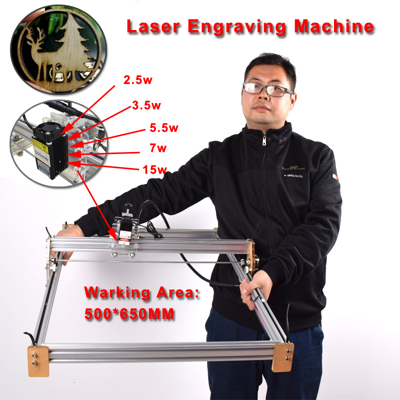 50*65cm Mini 5500mw Blue Cnc Laser Engraving Machine 2axis Dc 12v Diy Engraver Desktop Wood Router/cutter/printer+ Laser Goggles Driving A Roaring Trade