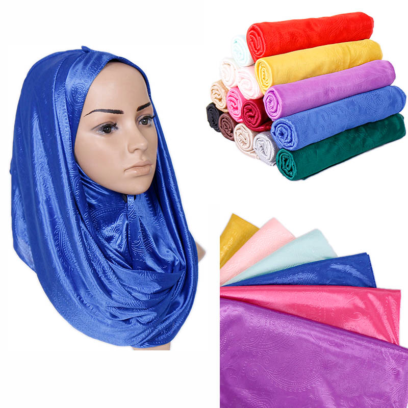 Solid color Crinkle hijab scarf pleated cashew floral shawls muslim wrinkle scarves wraps stretchy headband scarves