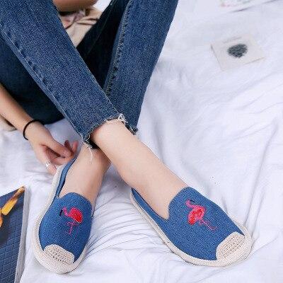 Femmes Bouche 4 2018 Casual Solitaire Nouvelle Brodé Pêcheur Armure Chaussures 3 Profonde 1 Broderie Plat 2 Toile Peu wX8rWTXPq